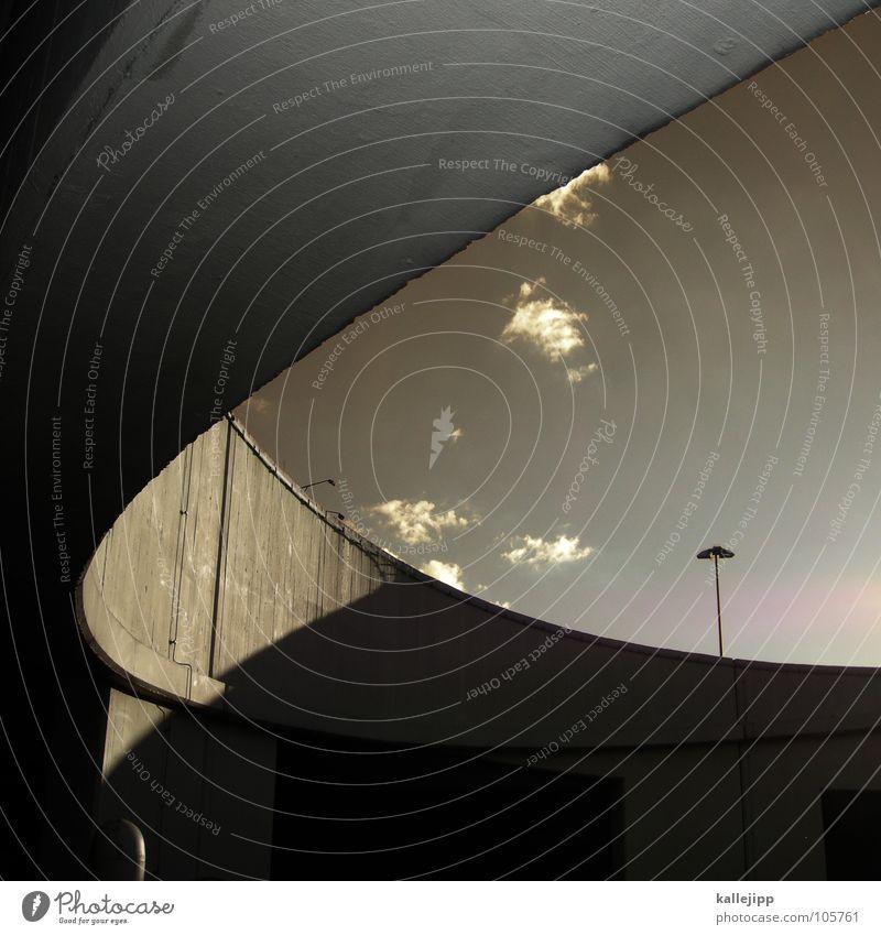Sky City Street Air Lighting Architecture Concrete Transport Bridge Arrangement Vantage point Target Highway Lantern Direction Conduct