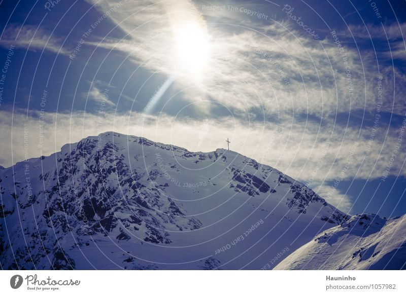 Pitztal Leisure and hobbies Vacation & Travel Tourism Freedom Sun Winter Snow Winter vacation Mountain Nature Landscape Sky Clouds Climate Beautiful weather Ice