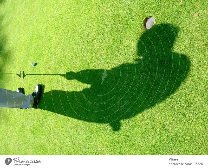 header Green Grass Afternoon Ball sports Shadow Golf Hollow Target Golf course