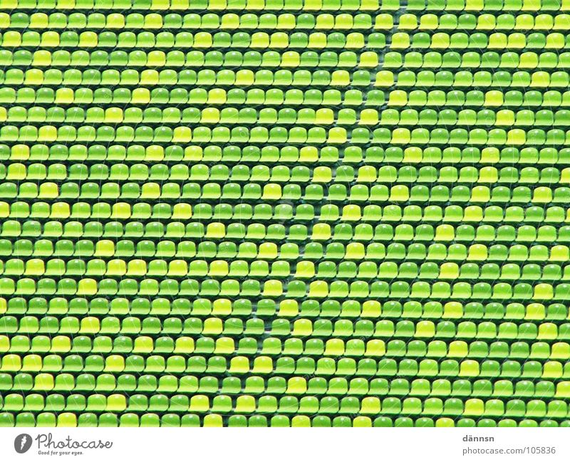 The little green world Green Greeny-yellow Stadium Munich Empty Leisure and hobbies Seating Row Olympics Olympic stadium