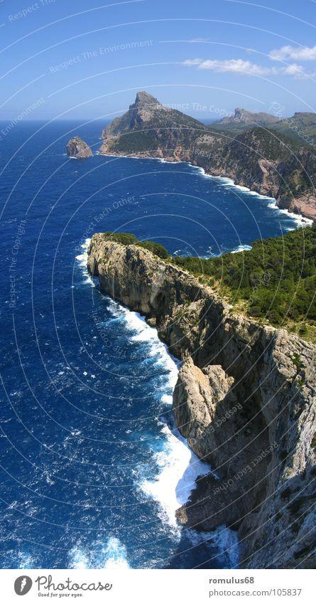 Ocean Beach Coast Island Surf Majorca Cliff Cap Formentor