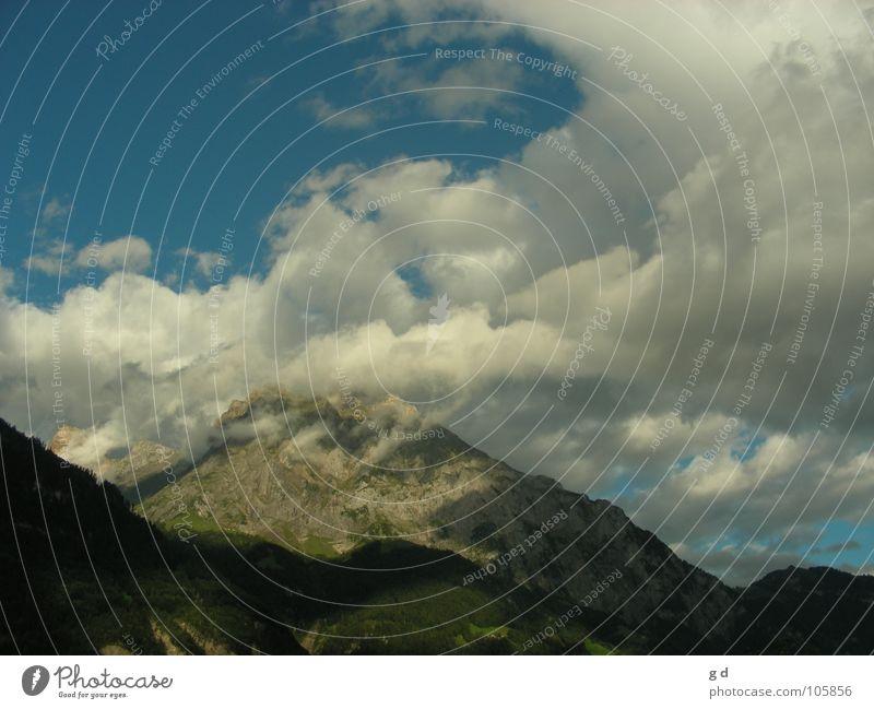 Wonderful Switzerland Clouds Gray Mountain Dynamics Sky Stone Blue Shadow