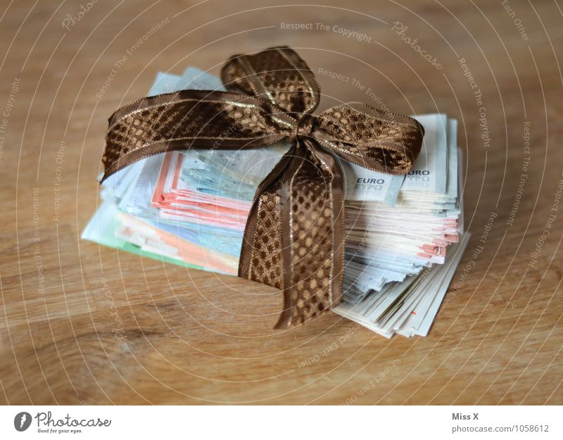 Christmas & Advent Moody Business Birthday Gift Money Trade Luxury Rich Bank note Save Crisis Euro symbol Bow Donate Price tag
