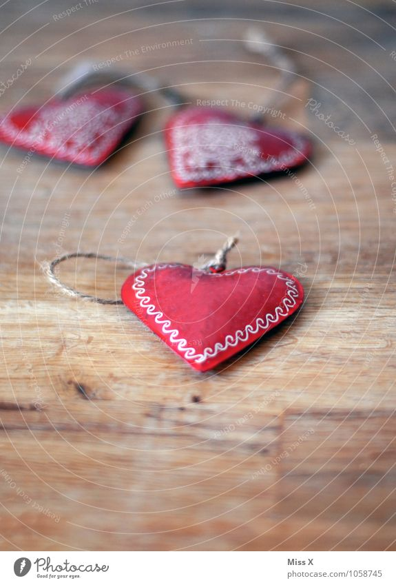 heart Valentine's Day Jewellery Decoration Kitsch Odds and ends Wood Metal Ornament Heart Emotions Moody Love Infatuation Heart-shaped
