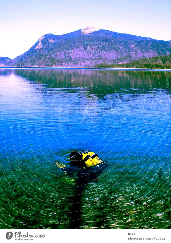 Nature Water Sky Vacation & Travel Calm Sports Playing Mountain Freedom Dream Lake Air Dive Diver