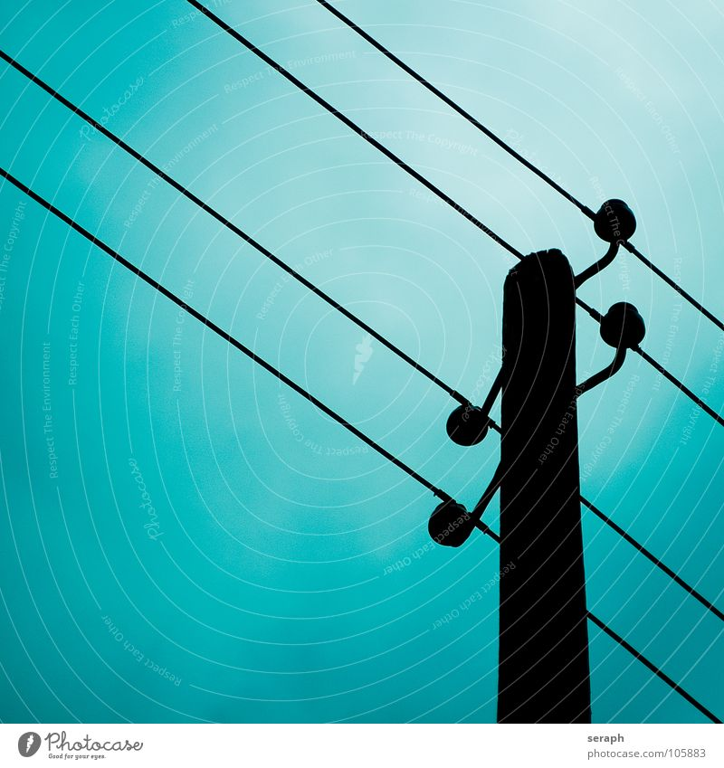 Power Pole Electricity Energy industry Cable High voltage power line Electricity pylon Manmade structures Wire Electronic Electronics Save energy Energy crisis