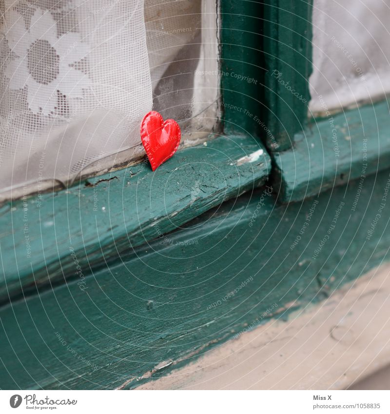 Red Window Emotions Love Moody Heart Romance Sign Hope Longing Infatuation Lovesickness Valentine's Day Flirt Heart-shaped Love affair