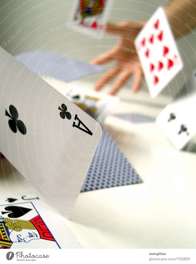 the spoilsport Mix Playing Chaos Game of cards Poker Skat Ace Hand Man Table 2 4 Game of chance Future Desire Hope Financial Industry Muddled Disaster Squander