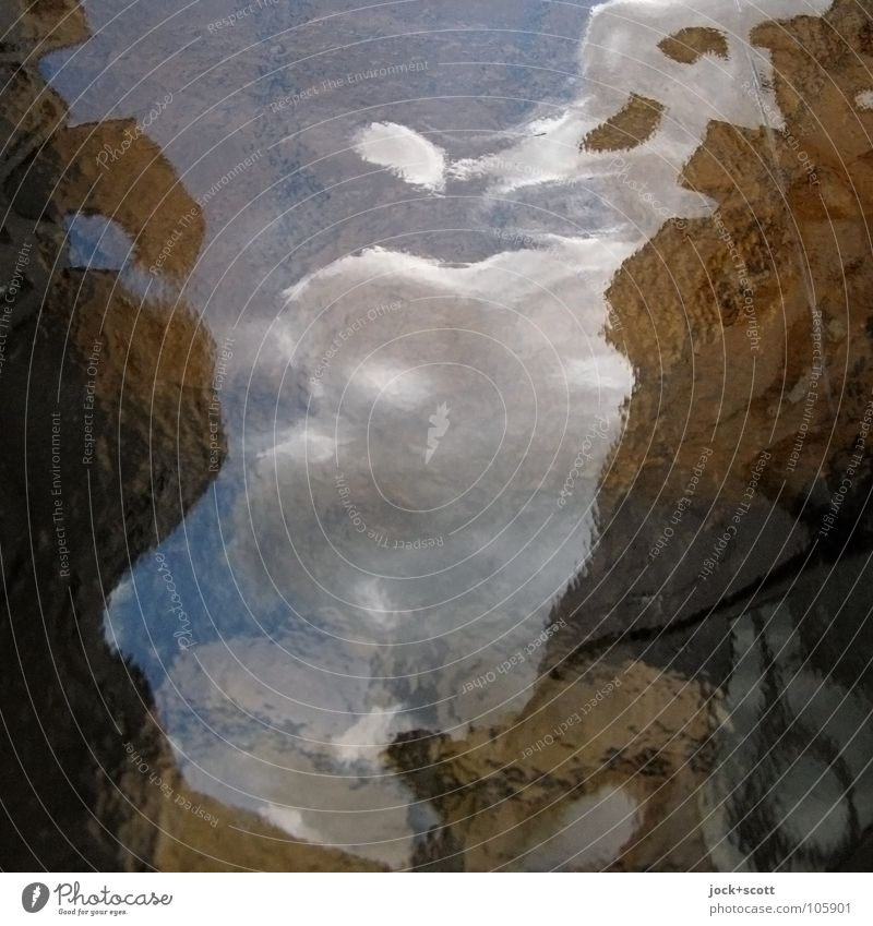 Reflection on glass in your own country Inspiration Surrealism Change Plate glass Surface coating Border Transcendence Rough Illusion Deformation Metamorphosis