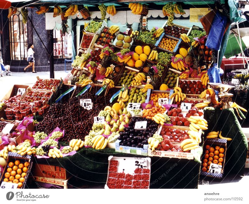 Healthy Fruit Vegetable London Marketplace Food England Market stall