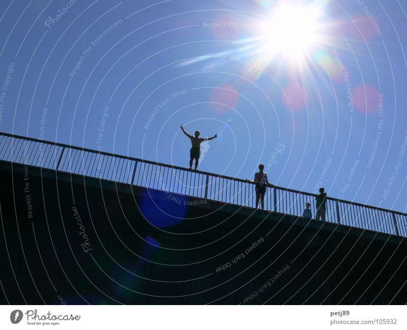 Summer Sun Joy Jump Action Bridge Death Suicidal tendancy