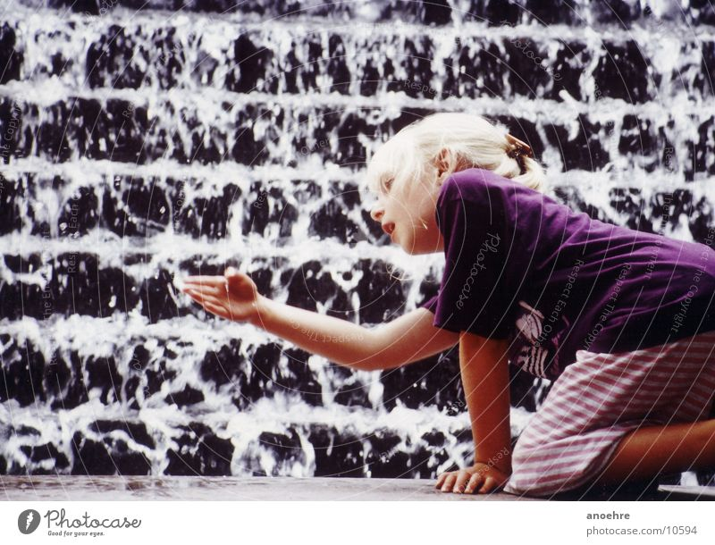 Child Water Girl Playing Well