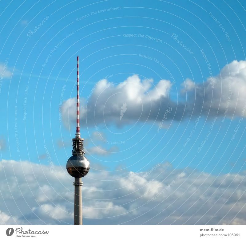 heaven over... Landmark East Berlin Clouds Bad weather Tourism Tourist Sightseeing Art Alexanderplatz High-rise Radio (broadcasting) Terrestrial Surveillance