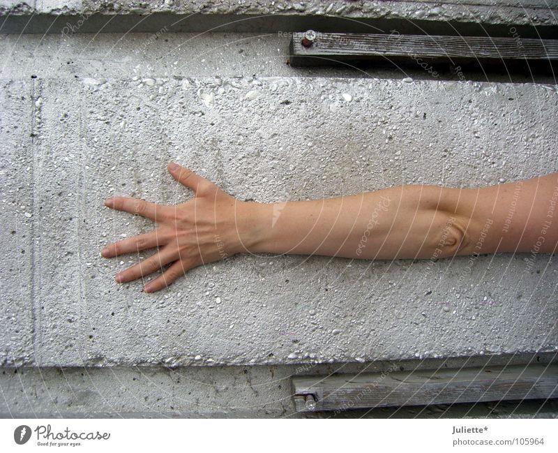 LONG ARM Fingers Encompass Concrete Long Ring finger Middle finger Forefinger Thumb Hand Extreme sports Graffiti Mural painting Funsport Arm Little finger