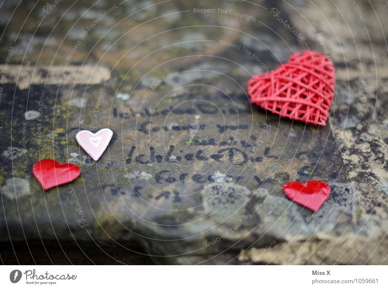 forever Valentine's Day Stone Sign Characters Graffiti Heart Emotions Moody Love Infatuation Romance Lovesickness Kitsch Declaration of love