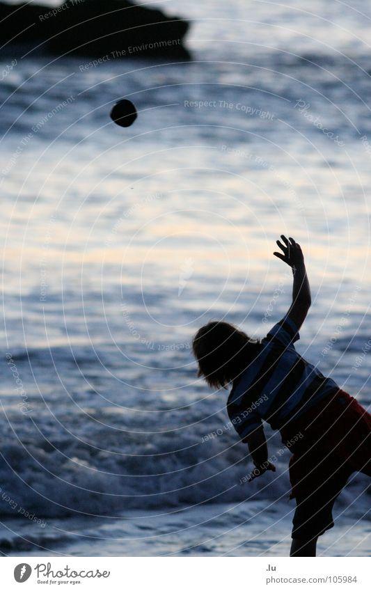Child Water Ocean Joy Beach Vacation & Travel Playing Movement Throw Aim