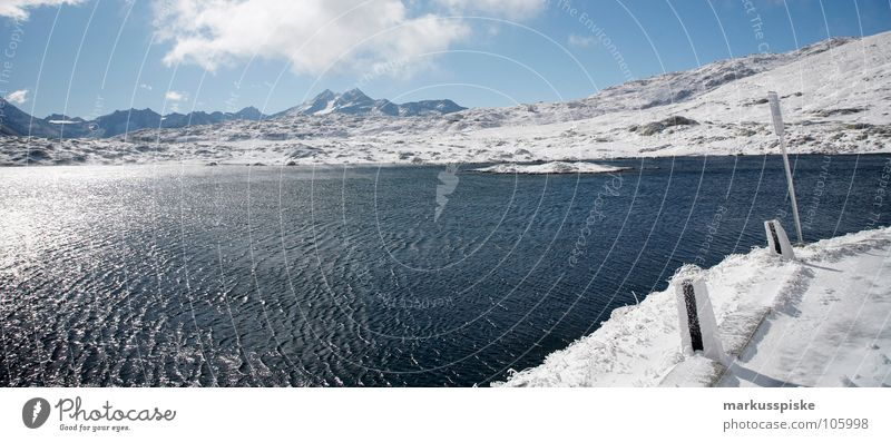 mountain lake Cold Glacier Dark Primitive times Eternity Frozen Valley glacier Austrian Alps Switzerland Massive Lake Ice Snow Crystal structure Hollow Bright