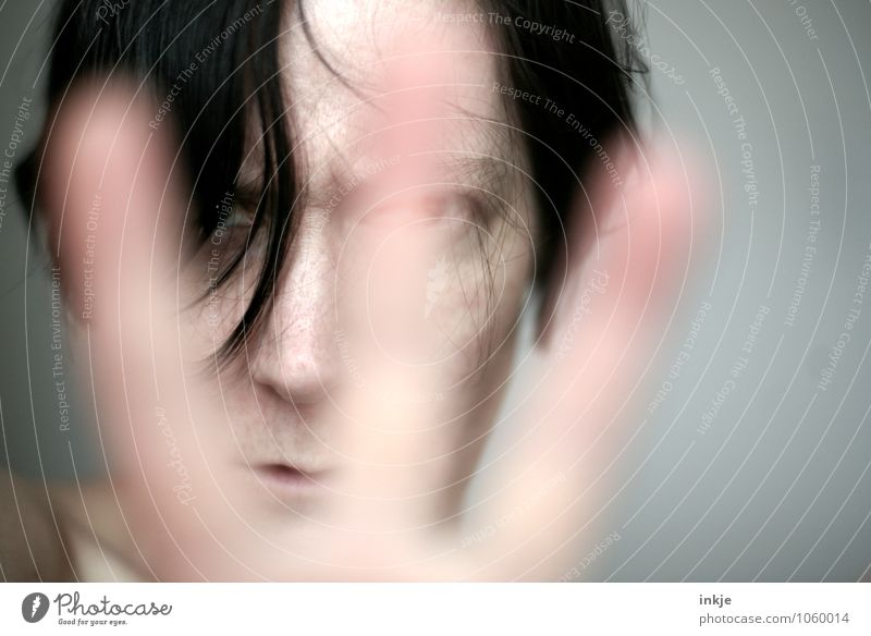 \ | / Lifestyle Woman Adults Face Hand 1 Human being 30 - 45 years Looking Argument Rebellious Anger Emotions Moody Self-confident Discordant Contempt Grouchy