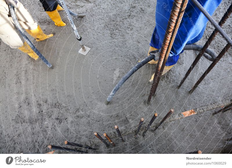 Concreting and compaction of reinforced concrete House building Work and employment Profession Craftsperson Workplace Construction site Craft (trade) Team Tool