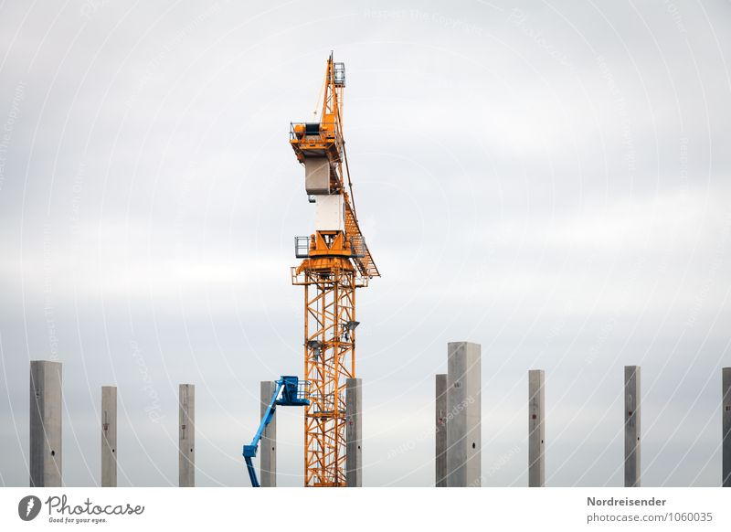 Architecture Metal Work and employment Business Growth Large Tall Technology Concrete Industry Change Break Construction site Logistics Planning