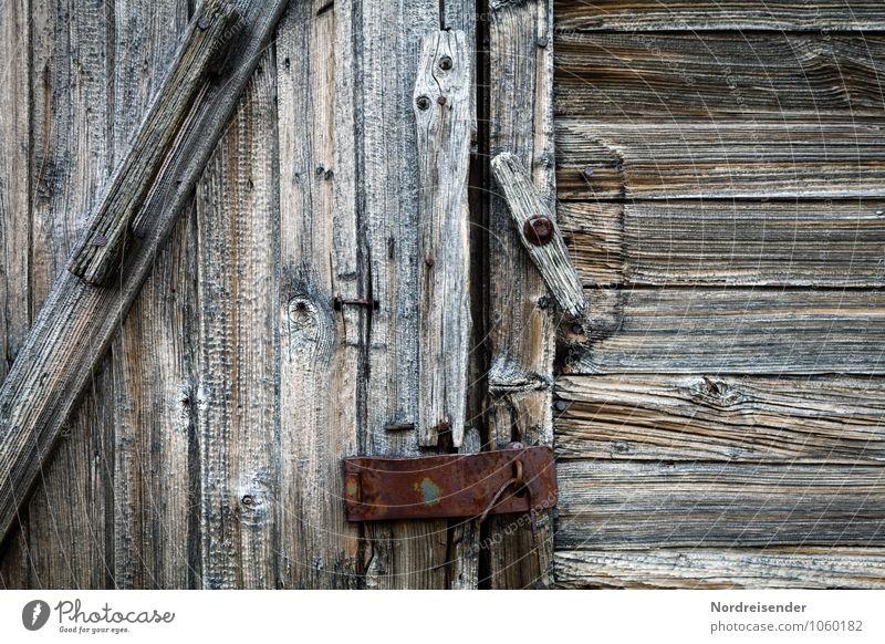 Old Natural Building Gray Wood Background picture Metal Facade Door Transience Broken Manmade structures Hut Decline Lock Key