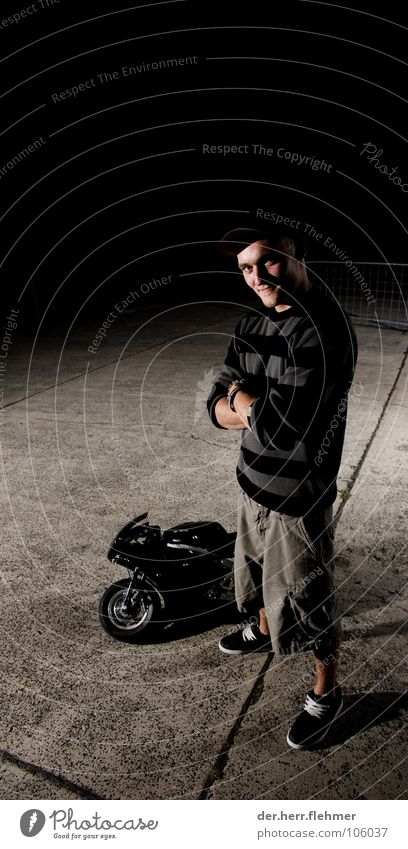 Black Concrete Leisure and hobbies Stripe Pants Fence Flexible Short Baseball cap German Technology Museum