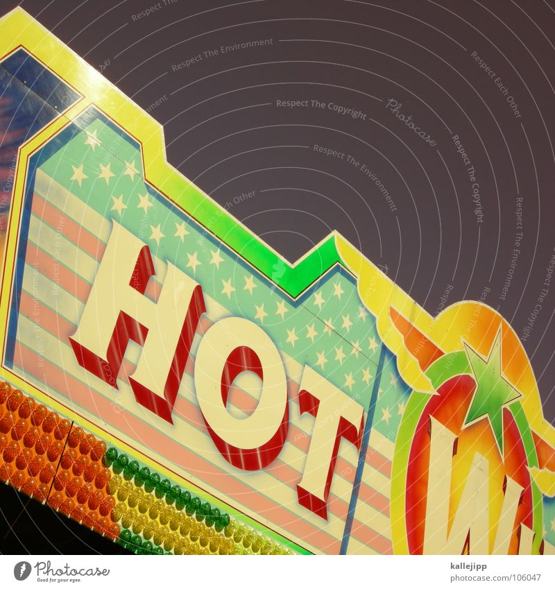 Joy Lamp Signs and labeling Star (Symbol) Characters USA Hot Advertising Typography Fairs & Carnivals Americas