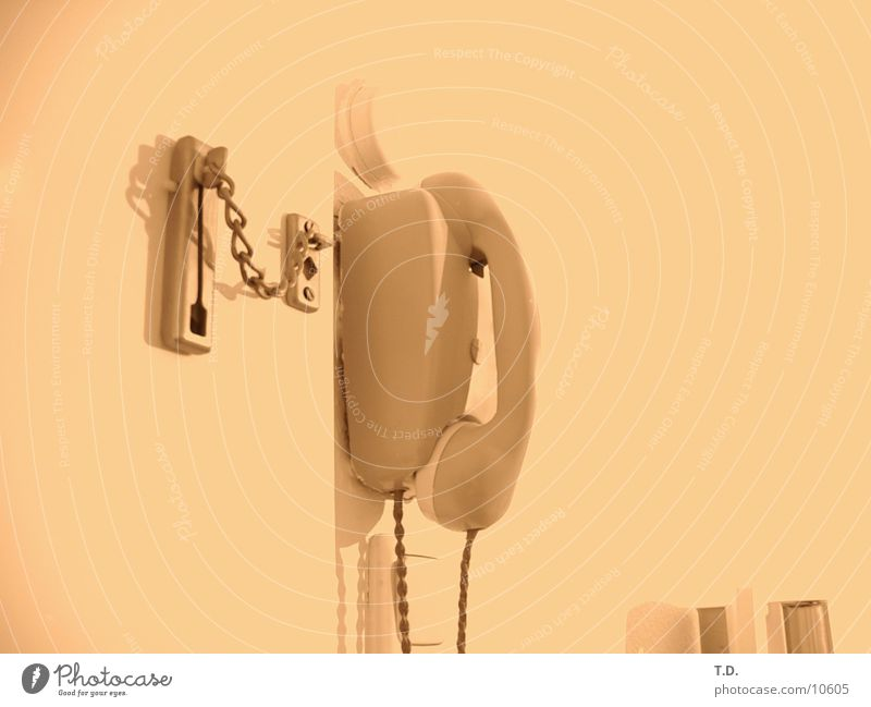 Retro bell answering machine Things Door Audience Sepia