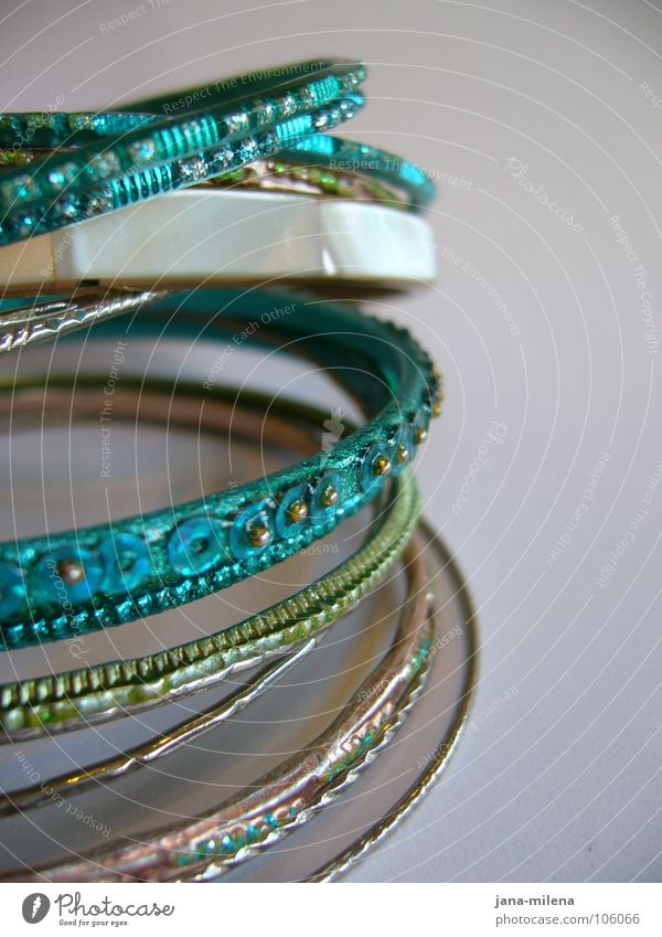 Beautiful Feasts & Celebrations Gold Circle Luxury Jewellery Turquoise Silver Bangle Mother-of-pearl