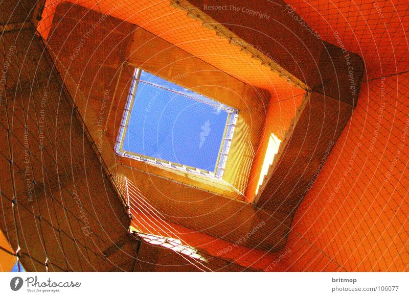 canopy Grating Nebra Sky Landmark Monument Detail Orange Stairs Tower Blue mittelberg lattice