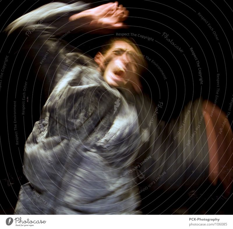 fear of movement Scream Scare Panic Fear Long exposure Movement Shock wave Arm Wing