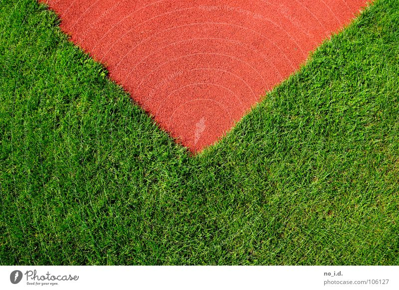 Green Red Playing Grass Line Orange Leisure and hobbies Fresh Corner Lawn Traffic infrastructure Letter (Mail) Mail Murder Triangle Track and Field