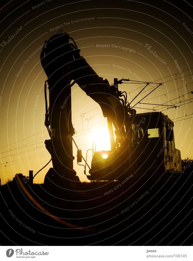 Sky Sun Summer Yellow Grass Sand Landscape Orange Earth Industry Construction site Hill Machinery Hollow Mining Excavator