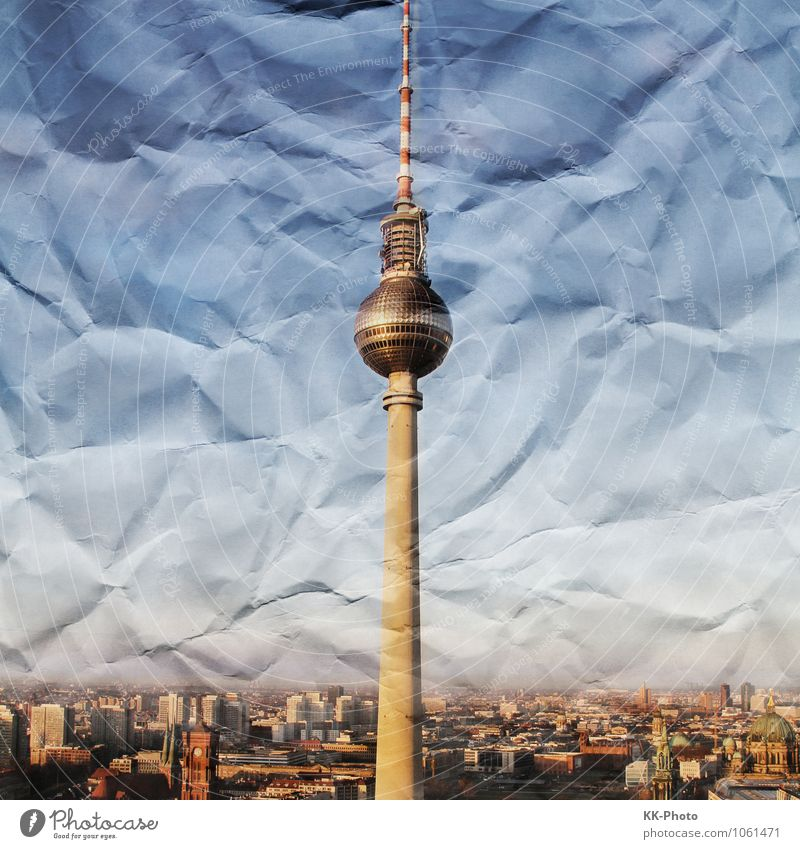 Crumbled Paper Berlin Berlin TV Tower Germany Europe Town Capital city Downtown Skyline House (Residential Structure) Manmade structures Architecture