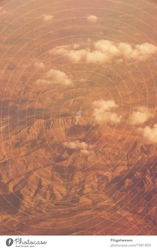 Fly Away 11 Bird's-eye view Flying Aviation Airplane Vantage point Looking River Mountain Vacation & Travel Clouds Field Desert Sand Forest