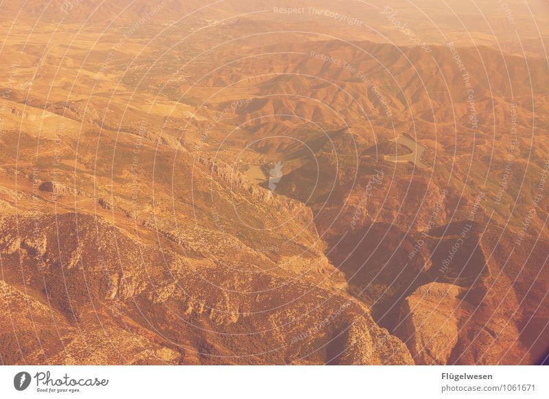 Fly Away 8 Bird's-eye view Flying Aviation Airplane Vantage point Looking River Mountain Vacation & Travel Clouds Field Desert Sand Forest