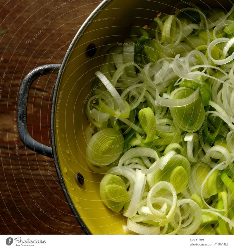 The healthy horror Cooking Dish Green Yellow White Healthy Vegetable Leek Nutrition