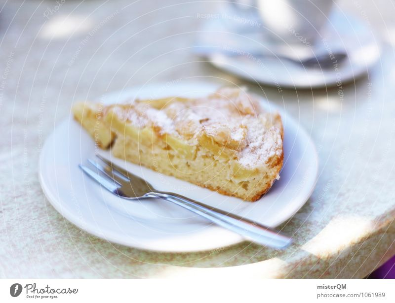 Spanish Food IX Art Esthetic Contentment Cake Pastry fork Plate To have a coffee Coffee break Coffee table Beautiful Delicious Colour photo Subdued colour