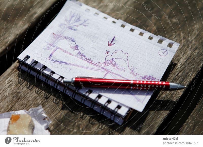 el tesoro. Art Adventure Esthetic Notebook Piece of paper Conceptual design Drawing Treasure Treasure chest Map Hiding place Storage area Painted Pen Diary
