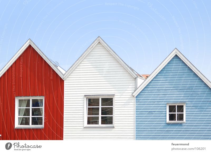 City House (Residential Structure) Window Building Facade Roof Living or residing Village Manmade structures Baltic Sea Schleswig-Holstein Wooden house