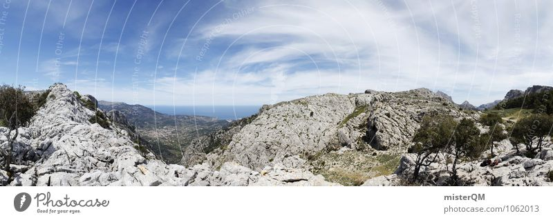 Sky Nature Vacation & Travel Loneliness Landscape Far-off places Mountain Environment Esthetic Adventure Spain Panorama (Format) Wanderlust Majorca Backpacking