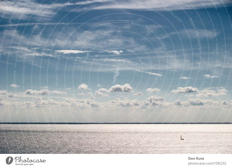Water Sky Ocean Blue Clouds Cold Freedom Line Wind Horizon Multiple Open Level Soft Many Ghosts & Spectres