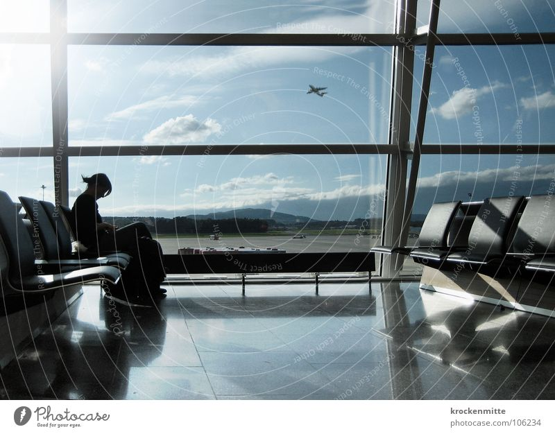 I'm leavin' on a jet plane Window Airplane Reading Passenger Beginning Depart Airplane takeoff Vacation & Travel Airport Departure lounge Wait boarding lift up