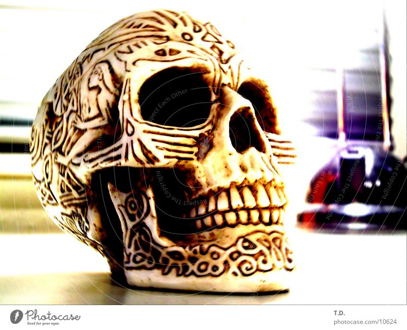 Thin Obscure Skeleton Death's head Paddle Ashtray