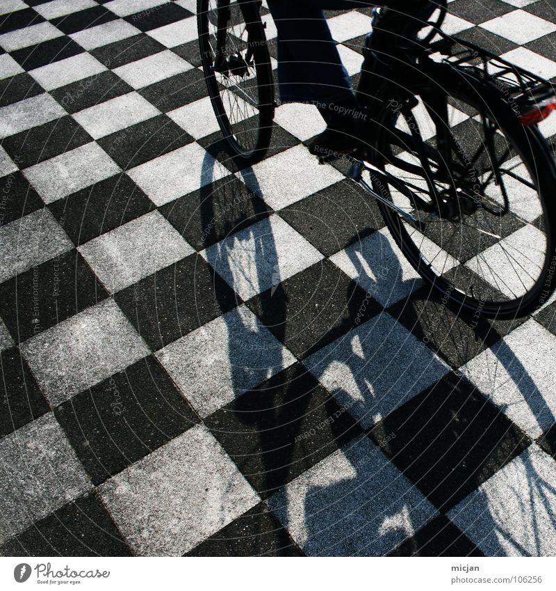 digital life Dance floor Pattern Bicycle Driving Black White Checkered Stewart tartan Floor covering Hard Arrangement Alternating Chic Playing Board game Pixel