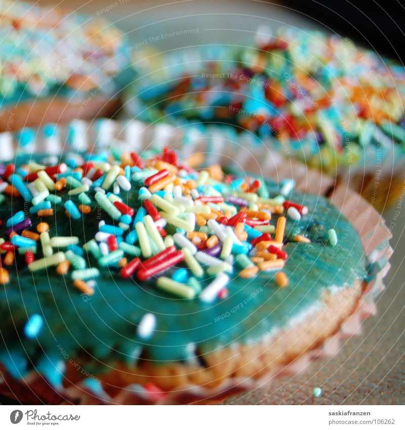 Scattered. Muffin Cake Granules Multicoloured Sweet Bakery Delicious Nutrition Dough Purloin Unhealthy Food Gastronomy glaze Birthday Appetite Colour