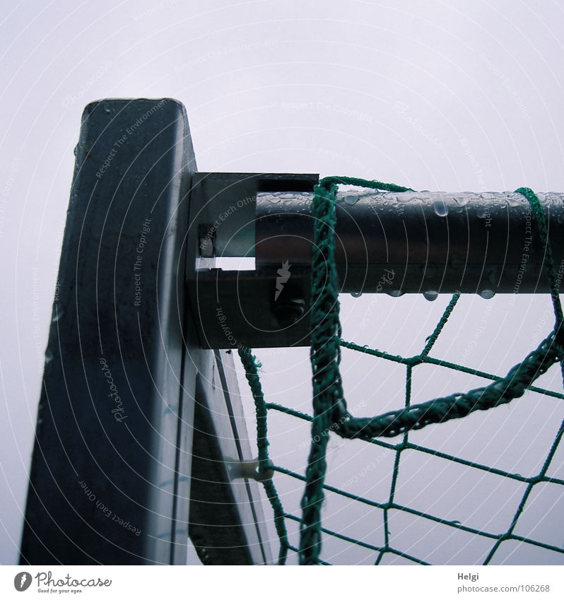 Sky Green Joy Sports Playing Gray Rain Soccer Metal Wet Drops of water Rope Corner Net Infancy Gate