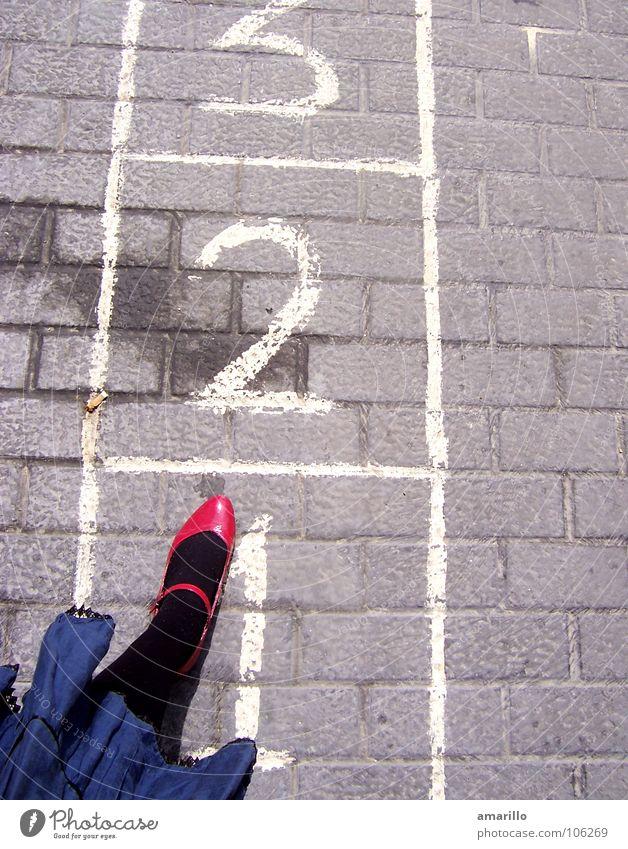 Woman Girl Joy Street Feminine Graffiti Playing Gray Jump Stone Legs Funny Footwear Dance Wet Tall