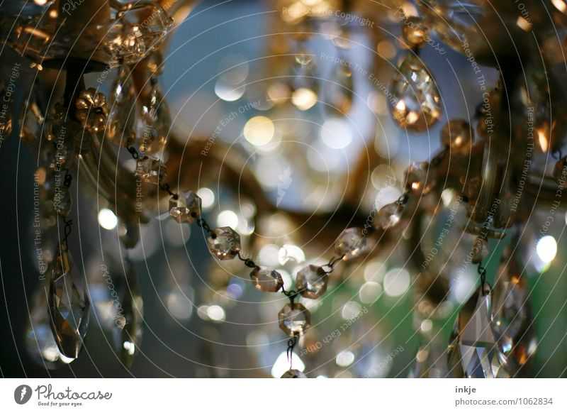 chandeliers Luxury Elegant Style Chandelier Glass Glass ball faceted Ground down Blur Sphere Drop Glittering Hang Old Authentic Historic Beautiful Retro
