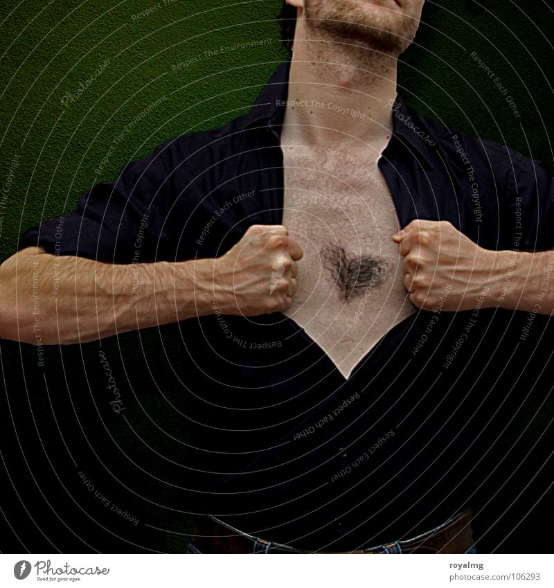 Man Hand Green Black Hair and hairstyles Heart Arm Open Chest Facial hair Vessel Fist Kasper Ankle Hairy chest